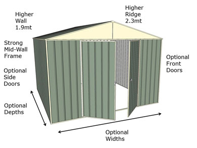 Gable Shed Features