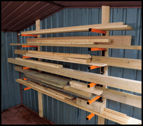 To Hang Shelves Or Racks In A Metal Shed, How To Hang Things In A Garden Shed